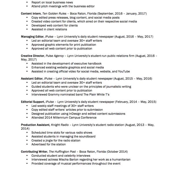 Trumpfeller Resume pt 2